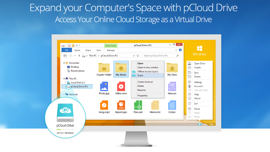 pCloud is a European-based cloud storage provider that is one of the few to sell on-off subscriptions.