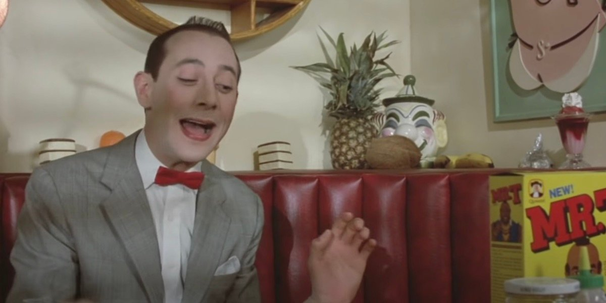 Pee-Wee herman on his bike