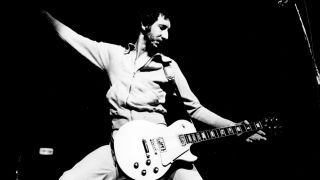 Pete Townshend on stage, 1972