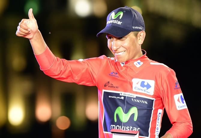2016 Vuelta winner Nairo Quintana (Movistar)