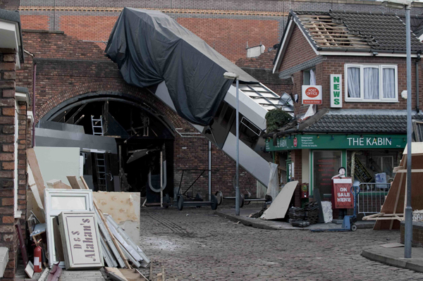 First look at Coronation Street tram crash!