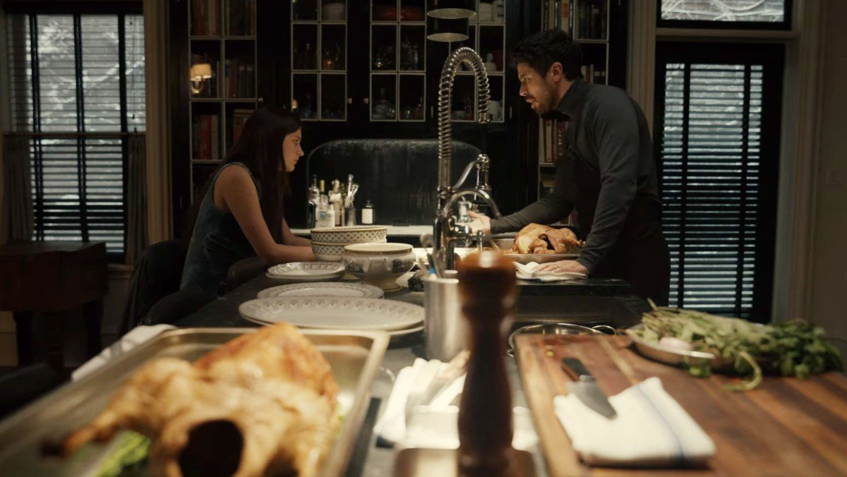 Nell Tiger Free and Toby Kebbell in Servant