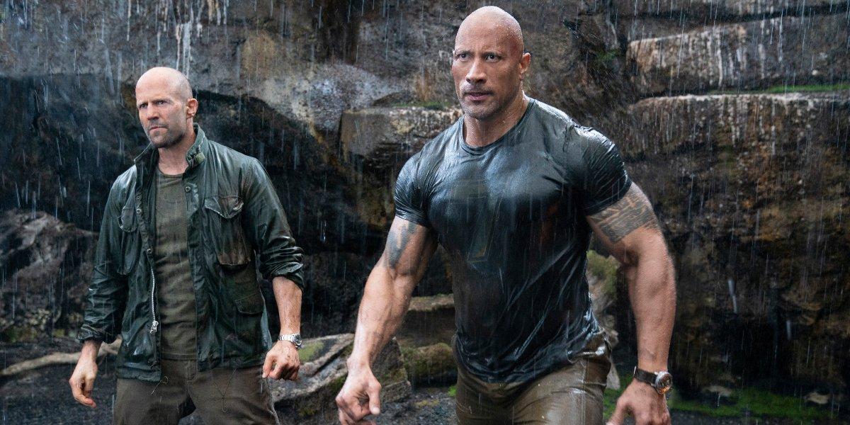 Jason Statham and Dwayne Johnson in Hobbs & Shaw