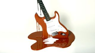 The Art of Noise Fender Stratocaster art piece by Plastic Jesus