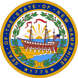 The seal of New Hampshire.