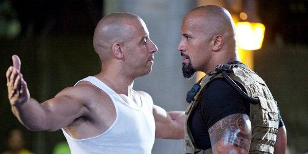 Vin Diesel The Rock Dom Toretto Luke Hobbs