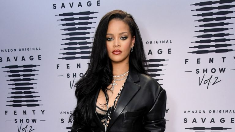 Rihanna at the premiere of Savage x Fenty fashion show 2020