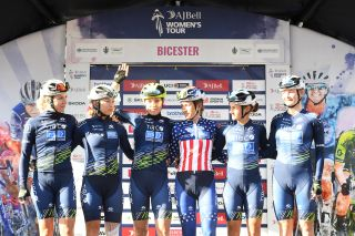 Tanja Erath and Tibco-Silicon Valley Bank ahead of stage 1 at The Women's Tour