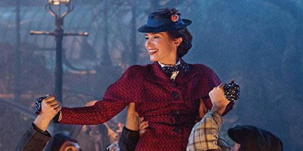 Emily Blunt as Mary Poppins in Trip a Little Light Fantastic musical number in 2018 sequel