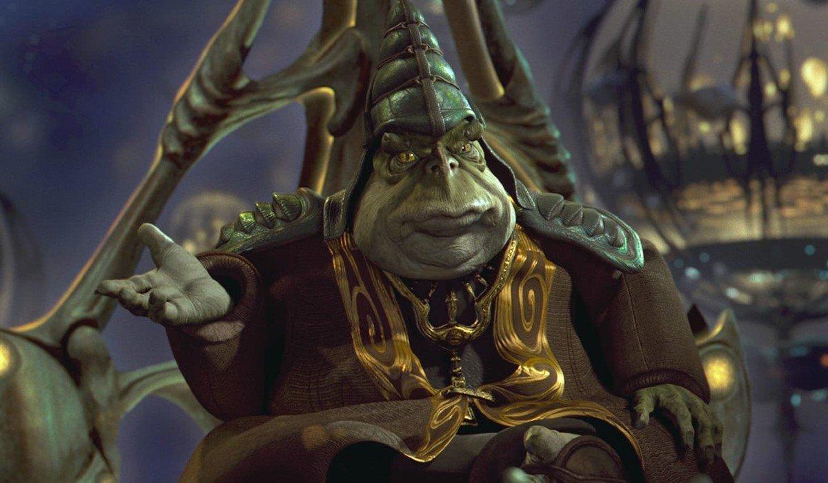 Boss Nass discussing something Star Wars