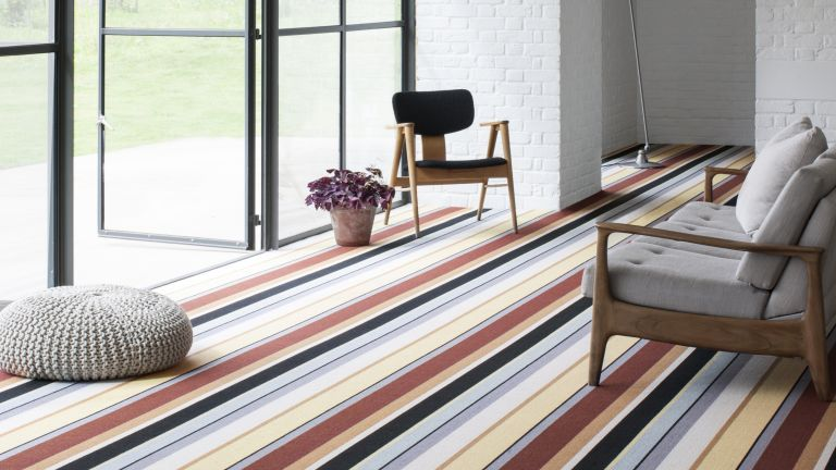 Patterned carpets are in style again, and it's the unexpected craze we didn't realize we needed until we saw how good it looks