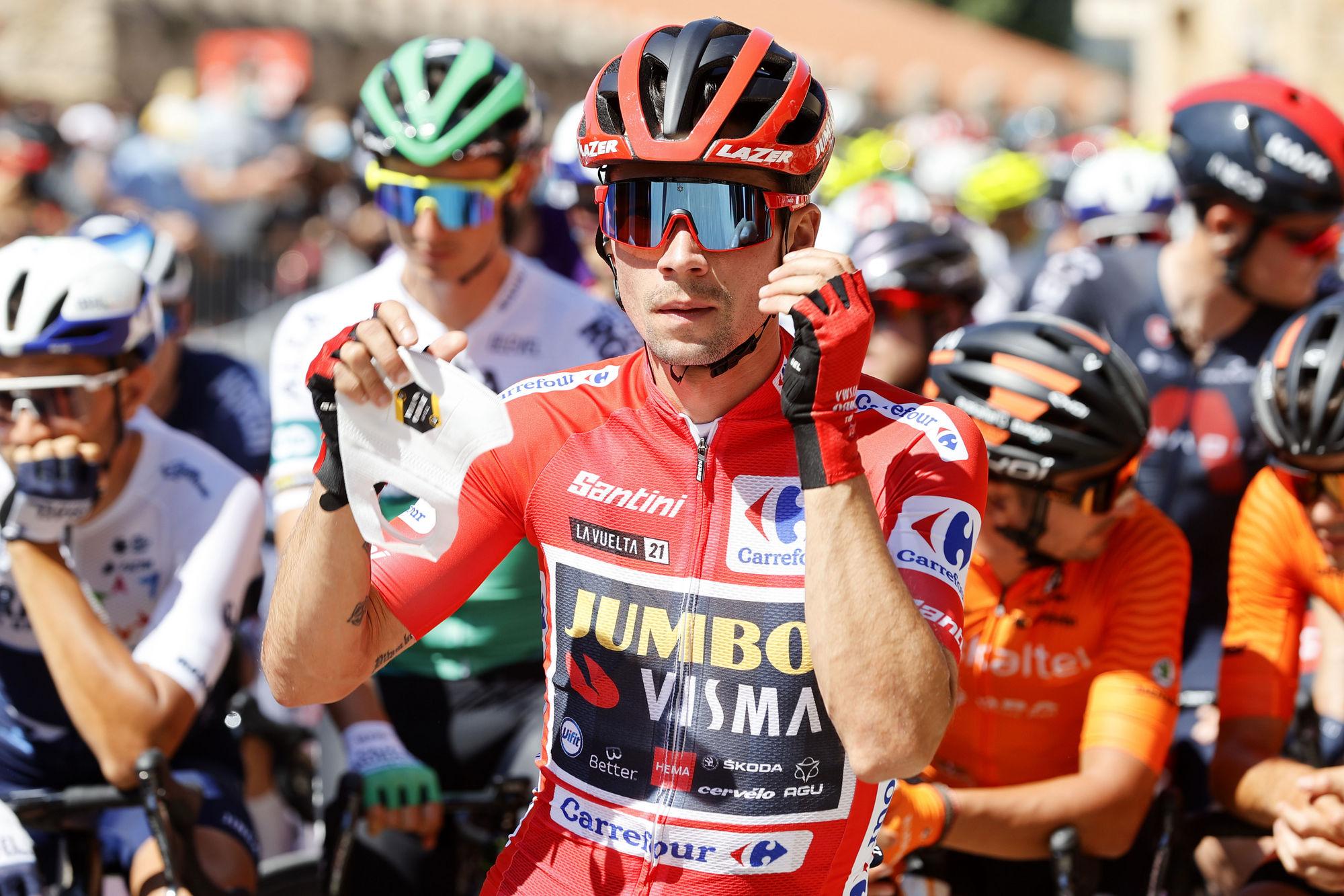 Vuelta a Espana race leader Primoz Roglic (Jumbo-Visma)
