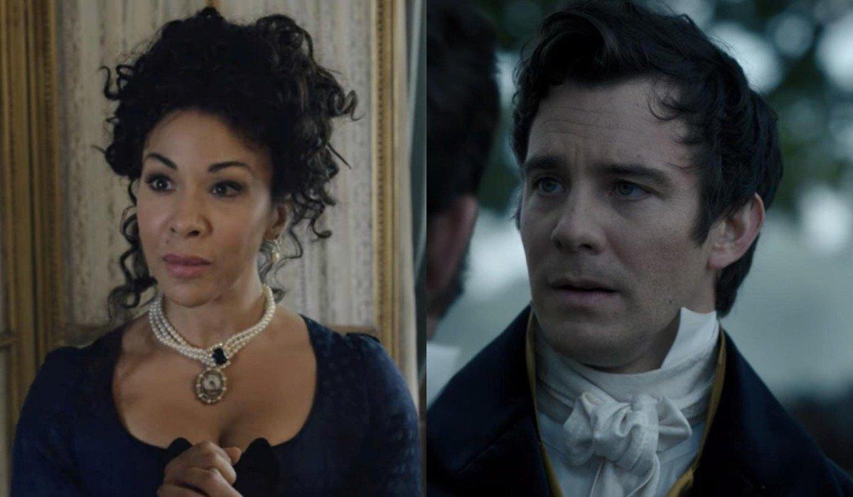 Benedict and Madame Delacroix in Bridgerton