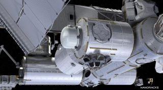 NanoRacks commercial airlock module art