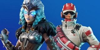 A couple of Fortnite winter skins.