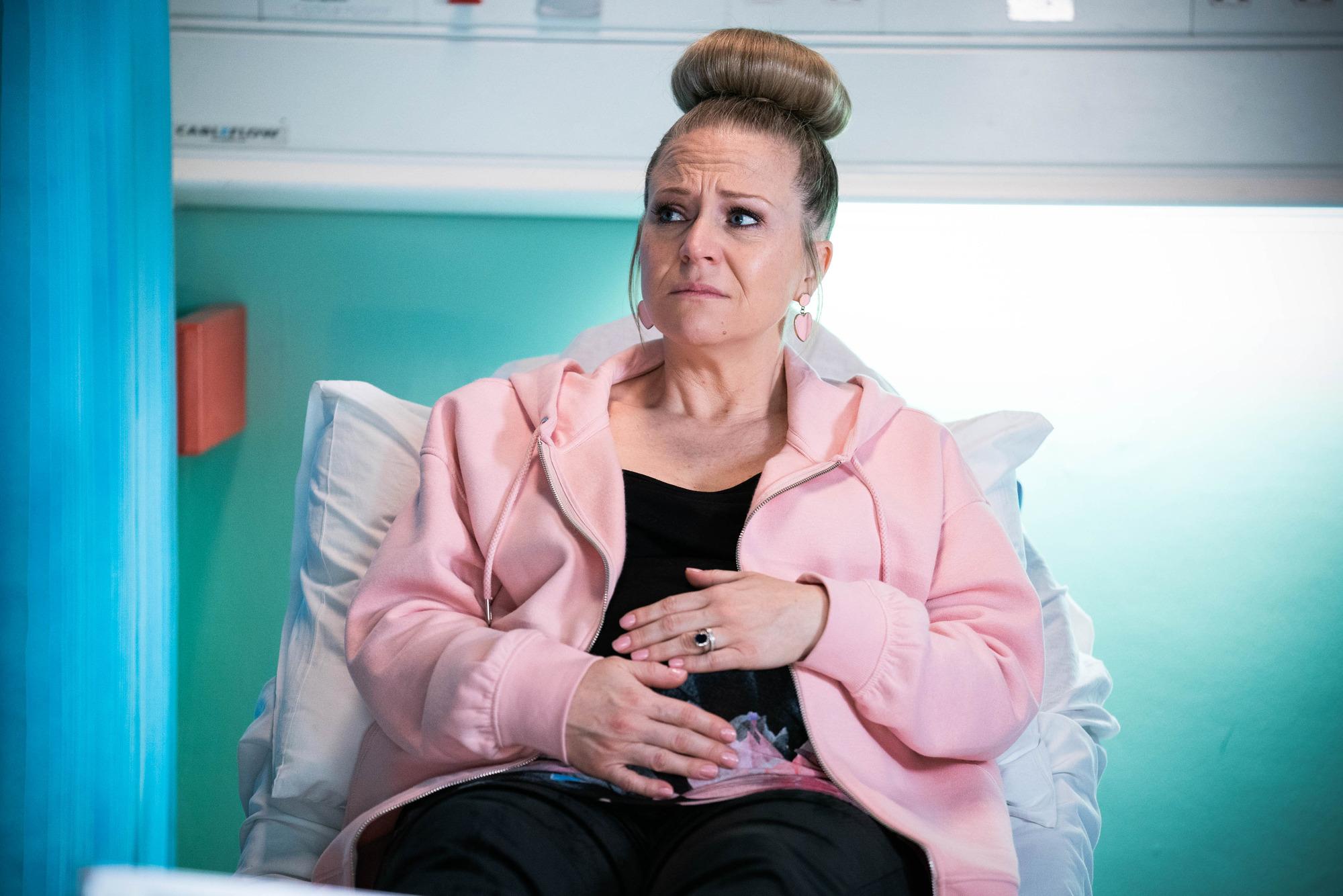 Linda Carter is in hospital in EastEnders