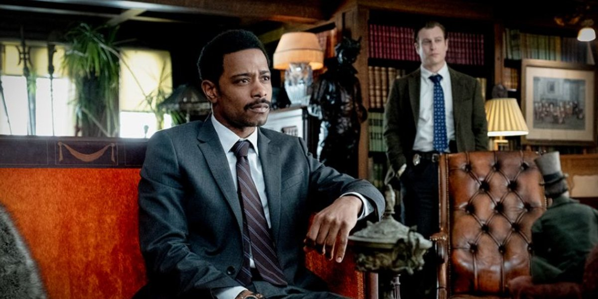 Lakeith Stanfield and Noah Segan in Knives Out