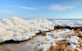 The Dead Sea is one of the saltiest bodies of water on Earth.