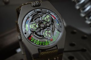 Urwerk's UR-100V P.02 wristwatch is limited to just 20 pieces and is available exclusively to Collective Horology members. Part of the proceeds will be donated to the Intrepid Sea, Air & Space Museum for the ongoing display of the space shuttle Enterprise.