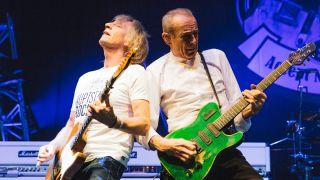 A picture of Rick Parfitt and Francis Rossi