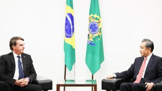 President Bolsonaro meeting with Chinese Foreign Minister Wang Yi