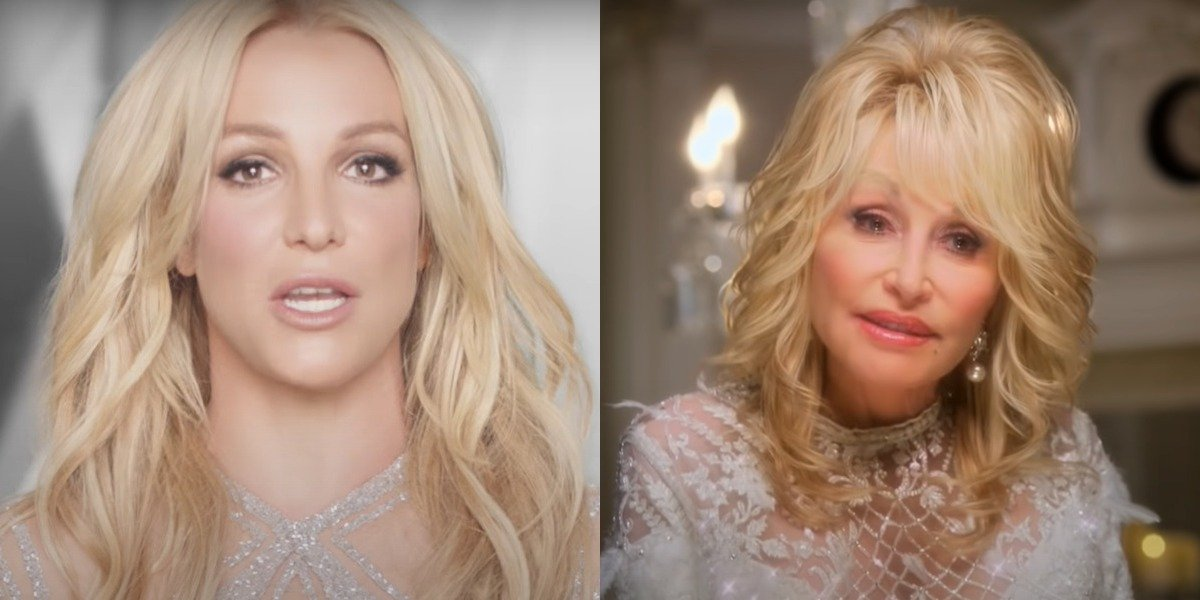 screenshot britney spears dolly parton in christmas on the square