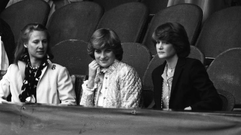Princess Diana's sat with her sister Sarah Spencer and Duchess of Kent