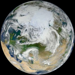 blue marble arctic