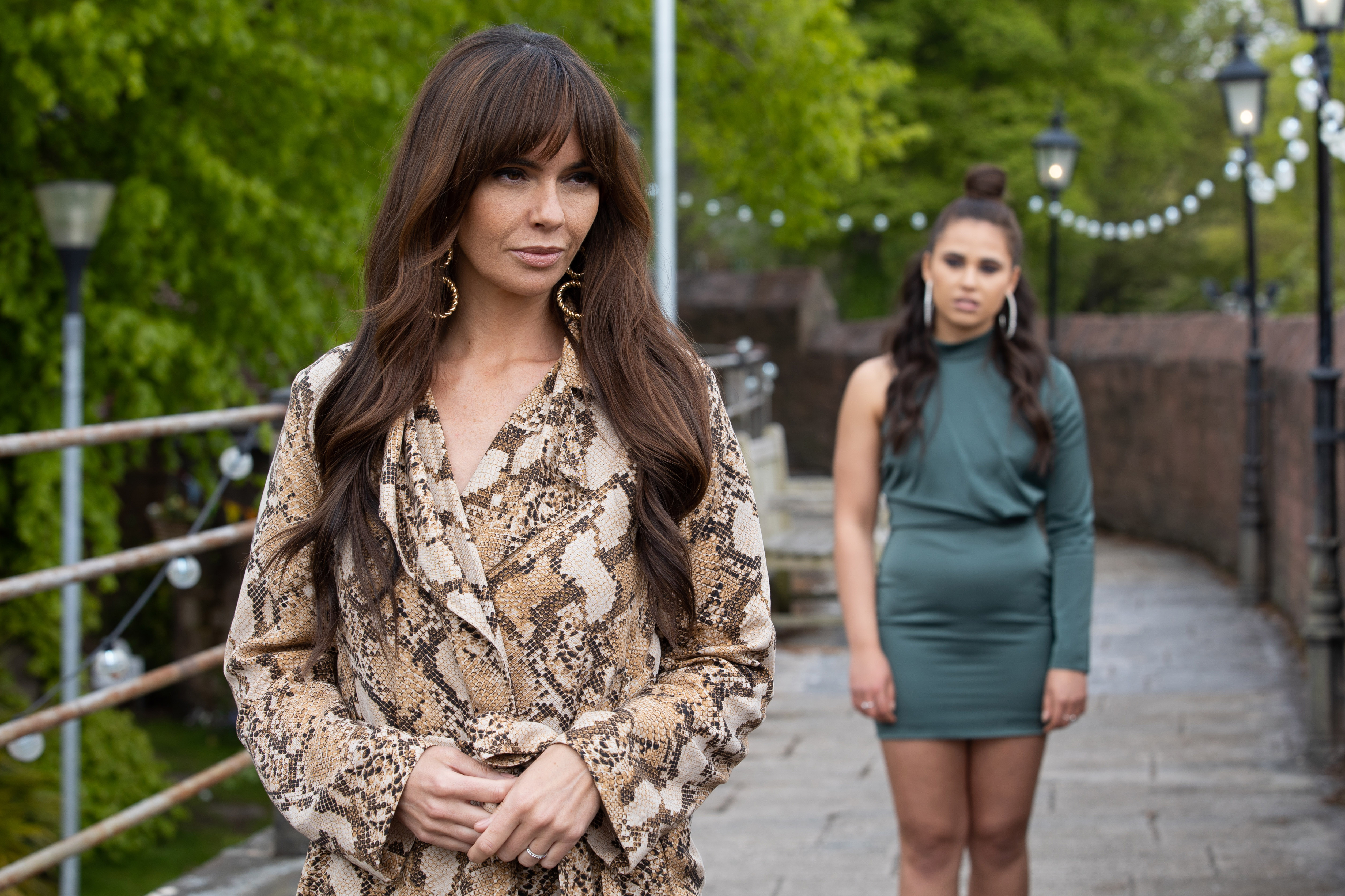 Cher Winters and Mercedes McQueen in Hollyoaks