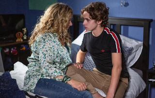 Jacob is nervous and excited in Emmerdale when he heads to the bedroom with Maya in Emmerdale