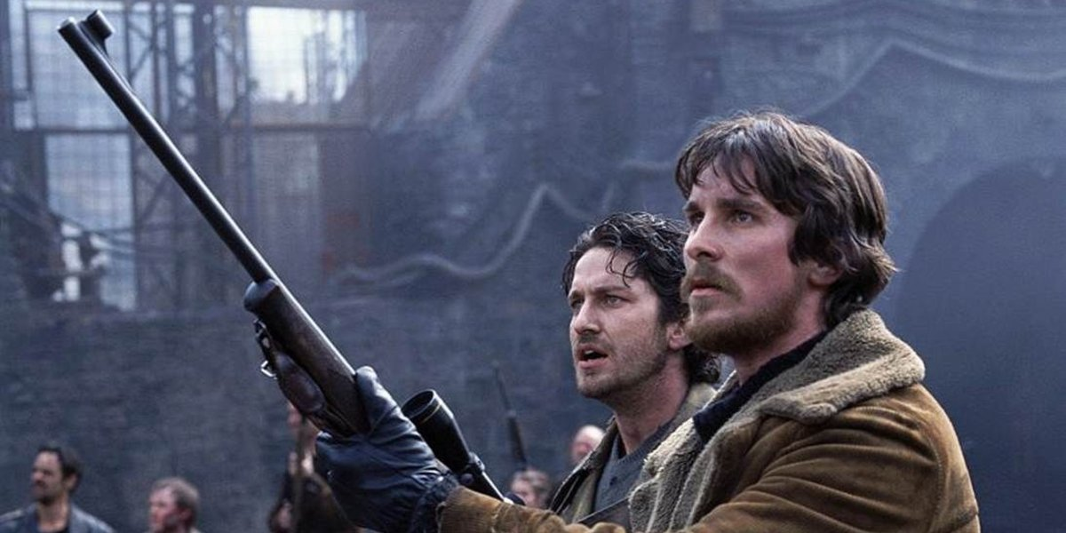 Gerard Butler and Christian Bale in Reign of Fire
