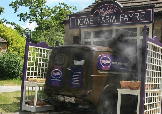 Rodney's van crashes into the farm shop