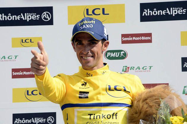 Alberto Contador on stage seven of the 2014 Criterium du Dauphine