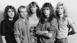 Def Leppard in October 1987