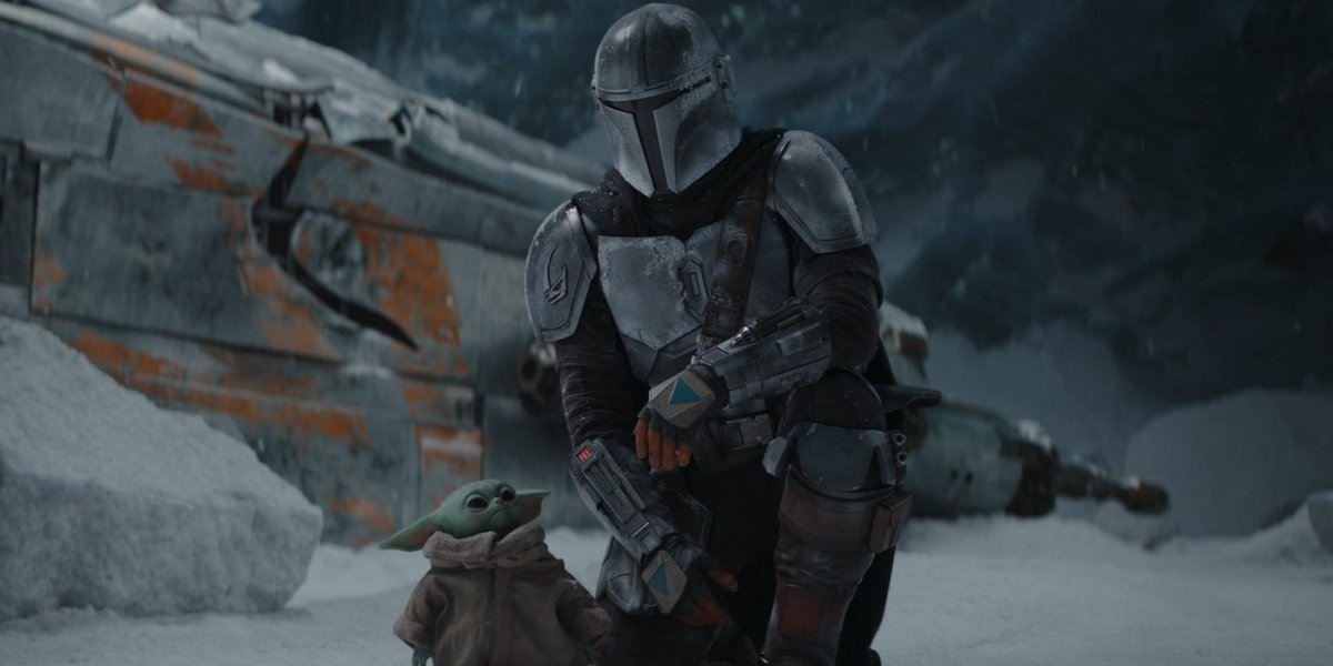 Din Djarin and The Child in The Mandalorian (2020)