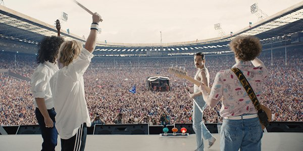 The Live Aid concert in Bohemian Rhapsody