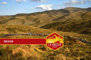 Peloton climbs in mountains during 2020 Vuelta a Espana
