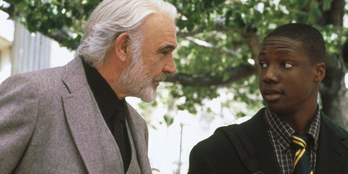 Sean Connery as William Forrester and Rob Brown as Jamal Wallace in Finding Forrester (2000)