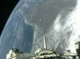 Shuttle Astronauts Deploy Satellites Ahead of Landing