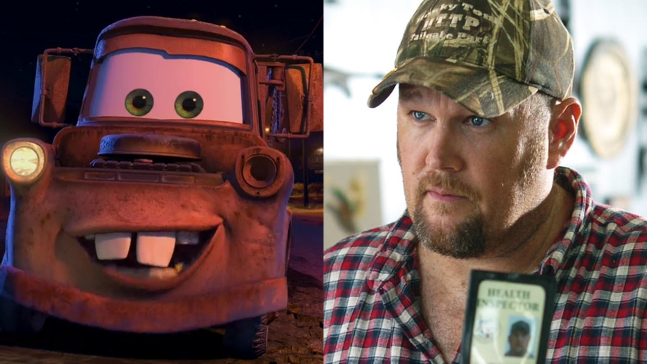 Mater in Cars; Larry The Cable Guy in Larry The Cable Guy: Health Inspector