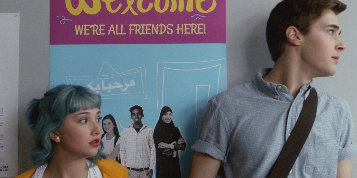 Amanda Arcuri and Eric Osborne as Lola and Miles in Degrassi Next Class