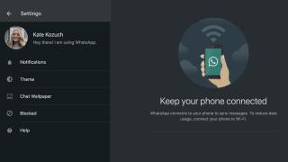 WhatsApp dark mode for desktop