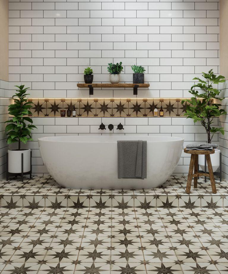 Metropolis Star bathroom Tile ideas by Tile Mountain