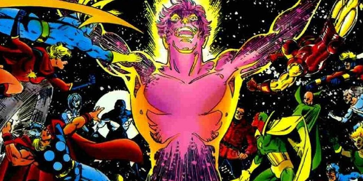 The Avengers take on Korvac after unlocking the Power Cosmic