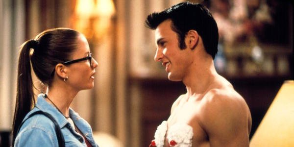 Chyler Leigh and Chris Evans In Not Another Teen Movie
