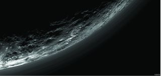 Layers of haze above Pluto