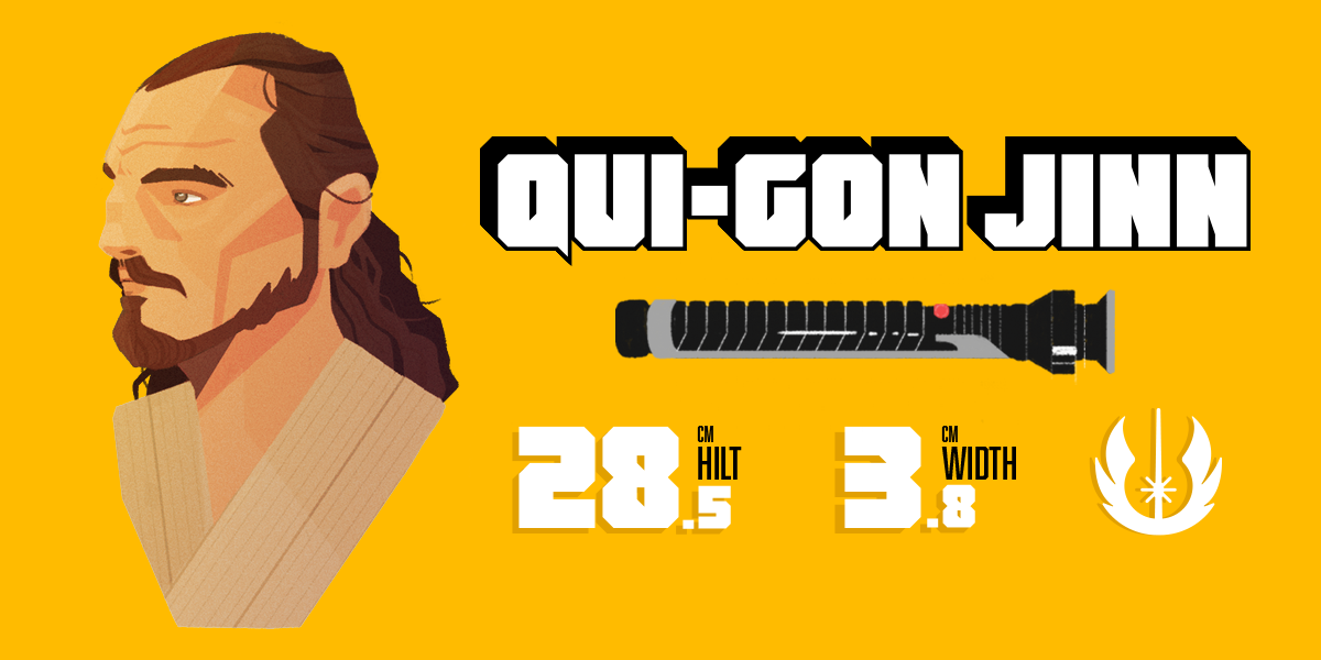 Qui-Gon Jinn and his lightsaber statistics