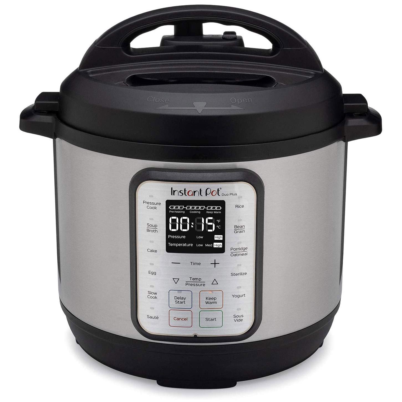 The Instant Pot Duo Plus 6-Quart pressure cooker.