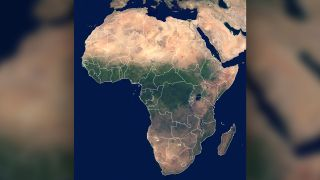 The Sahara Desert is seen here, in Northern Africa.