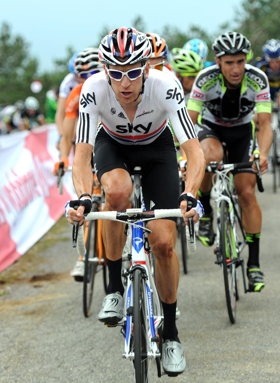 Bradley Wiggins chases, Vuelta a Espana 2011, stage 11